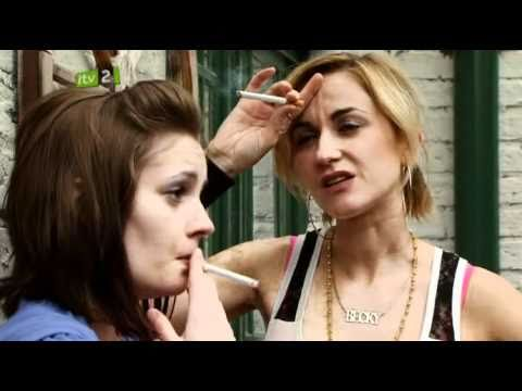 Katherine Kelly and Unknown smoking in the back yard.avi