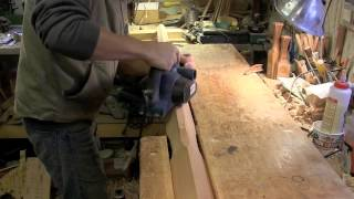 Making Pencil Posts #3  Lamb's Tongue And Power Planing