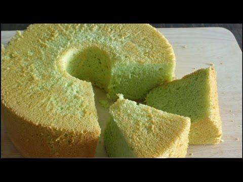 Pandan Chiffon Cake Re Uploaded Youtube