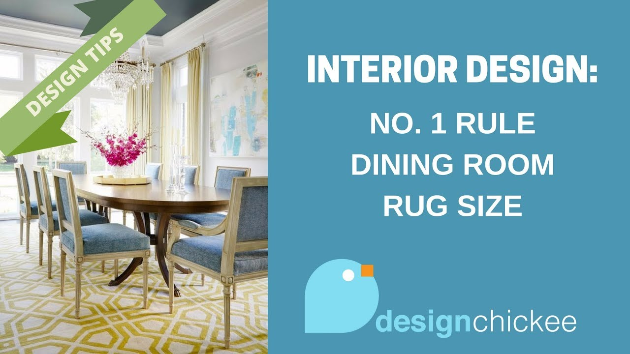 Interior Design Tips: No. 1 Rule for Dining Room Rug Sizes
