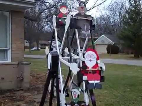 the winfield collection ferris wheel with christmas riders youtube
