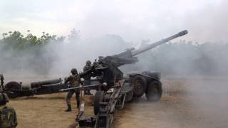 Royal Thai Marine Corps 155mm GHN-45 Howitzer firing by hodecore
