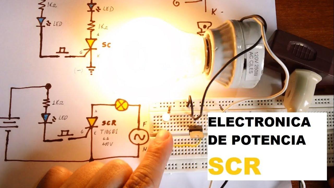 Circuito Com Scr Tic 106 : ✅ prueba de scr tiristor encendiendo bombillo y enclavar