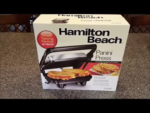 hamilton beach panini press unboxing review youtube. Black Bedroom Furniture Sets. Home Design Ideas