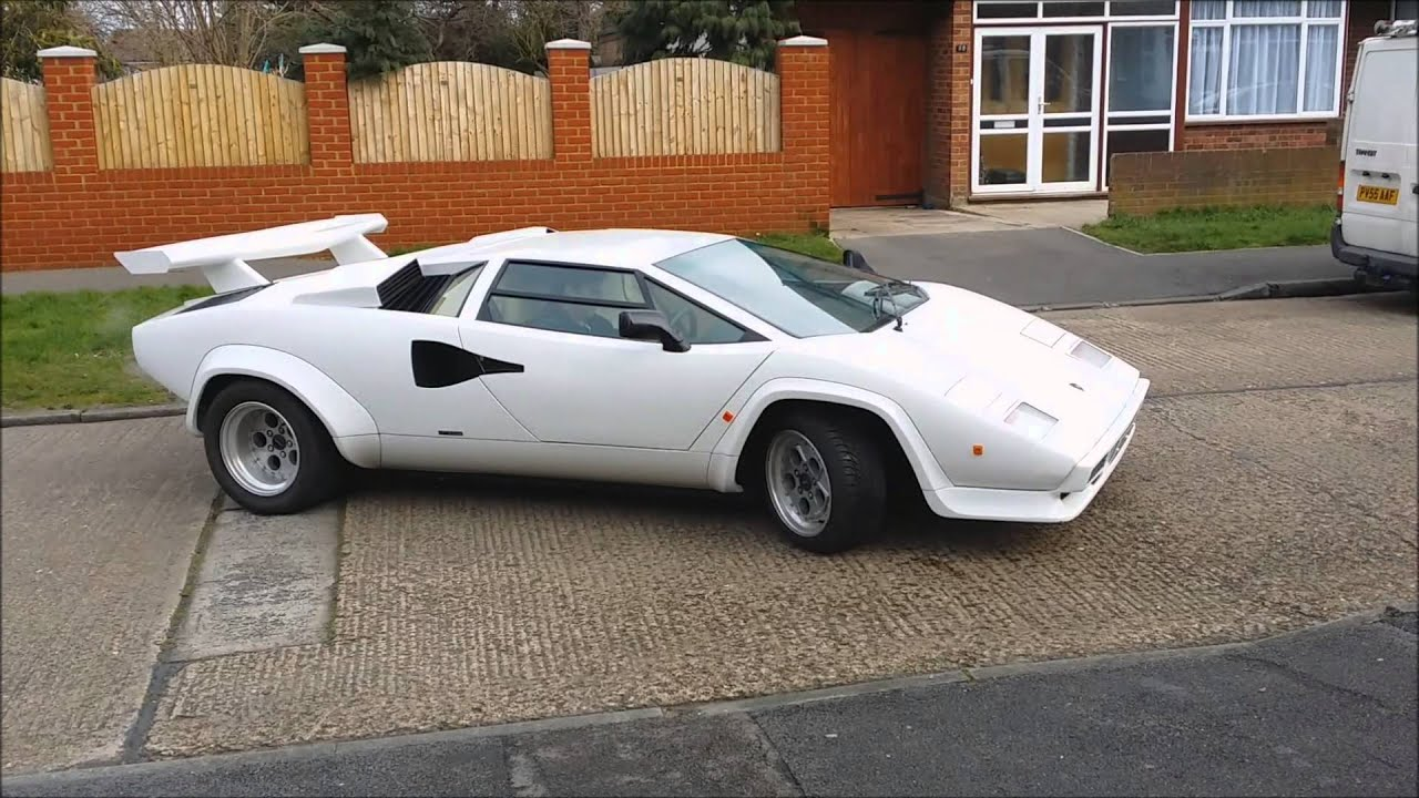 2005 Sienna White Lamborghini Countach Replica 17th Feb 2014 Youtube