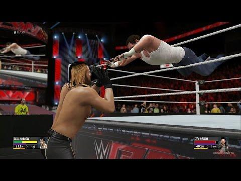 WWE 2K16 - Seth Rollins Vs Dean Ambrose (EPIC FIGHT!) 1080p HD