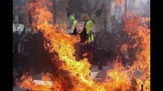 Fouquet's et Hugo Boss détruit - Champs-Elysées - Acte 18