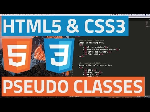 HTML5 And CSS3 Beginner Tutorial 22 - Pseudo Classes