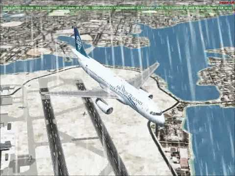 Unrealistic Take-off in A320 at Auckland Intl