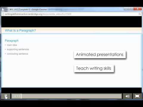 Writing Skills Interactive from Cambridge University Press