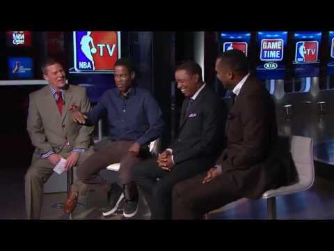 "Chris Rock Visits the NBATV Set to Discuss His New Movie ""Top Five"""