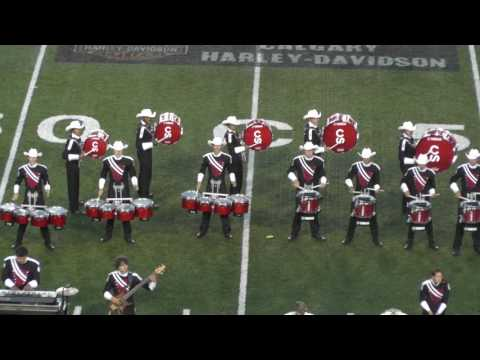 Calgary Showbands Live 2016 - Finals - Calgary Stampede Showband - closeup - Drumline only