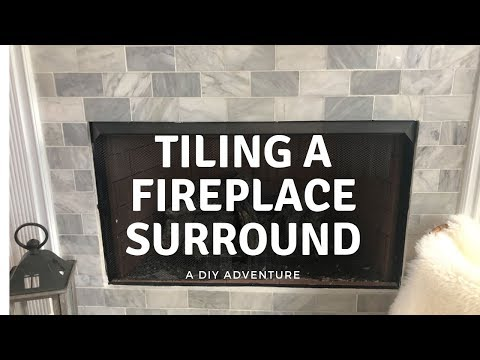 Tiling Fireplace Surround - Amateur DIY Project