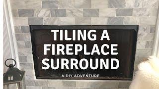 Tiling Fireplace Surround - Amateur DIY Project