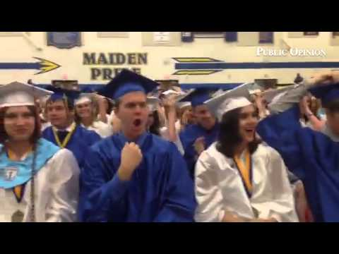 Waynesboro Area Senior High School students toss their caps! #ponews #waynesboropa