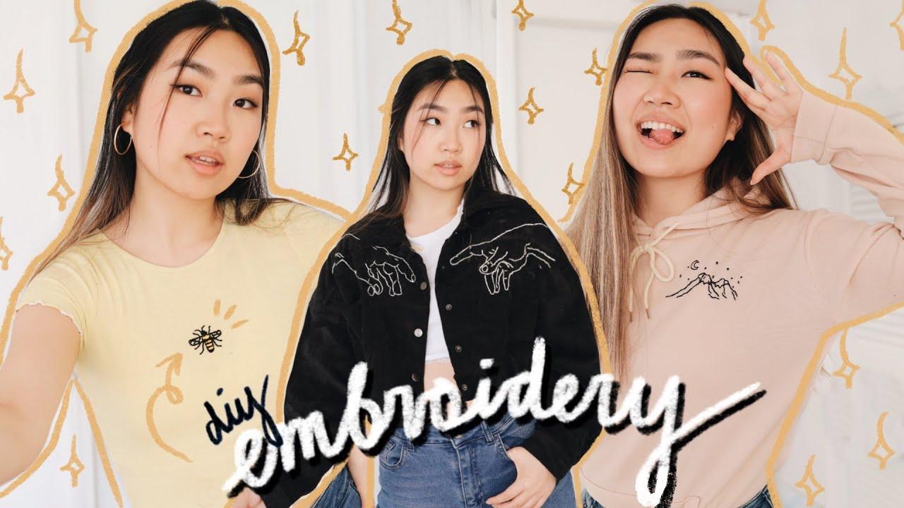 aesthetic clothing embroidery diys ✨ JENerationDIY