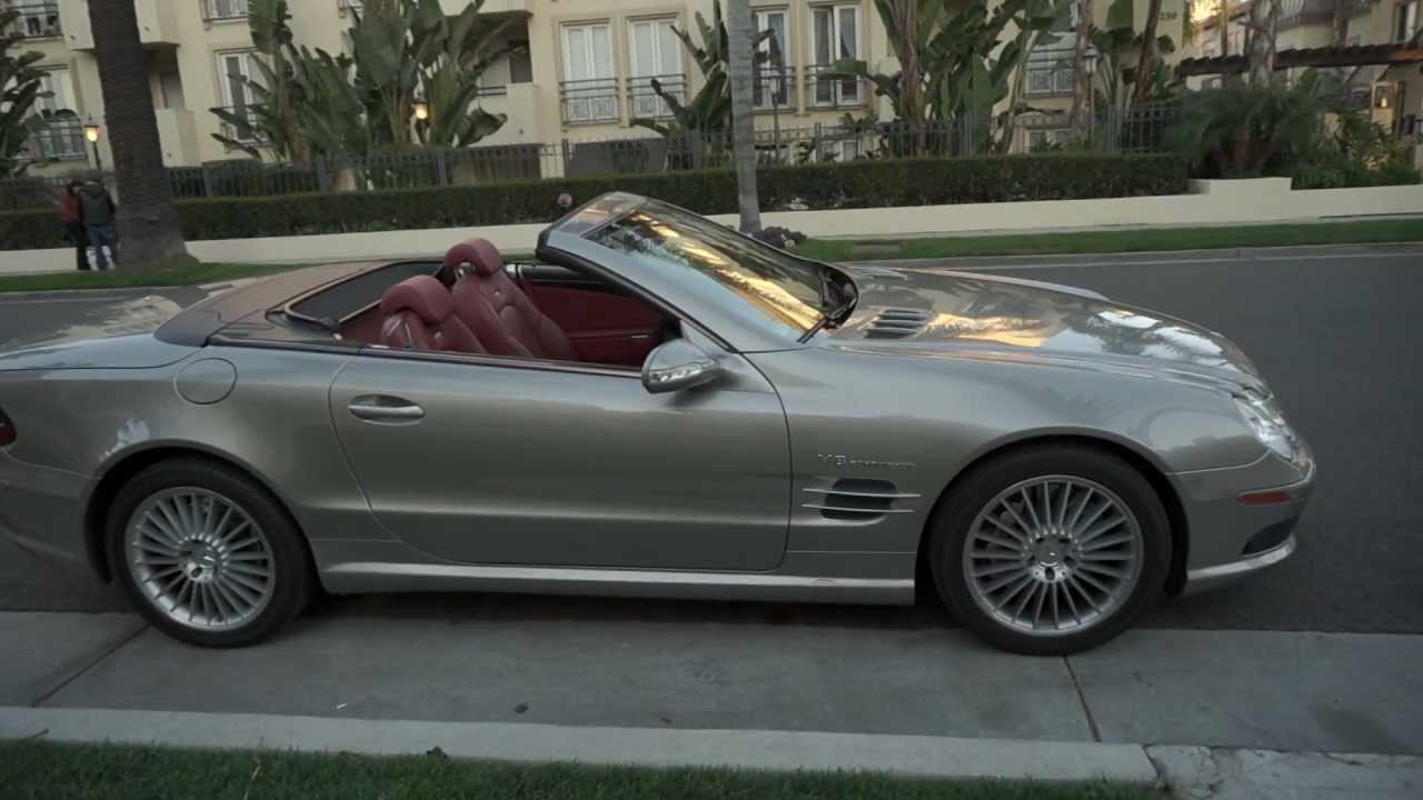2003 mercedes benz sl55 amg pewter on red 50k mi for sale porscheconnection 29 988 youtube. Black Bedroom Furniture Sets. Home Design Ideas