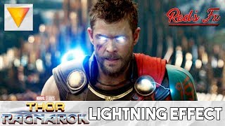 Thor: Ragnarok Lightning Eyes Effect Hitfilm Express Tutorial | Red's Fx