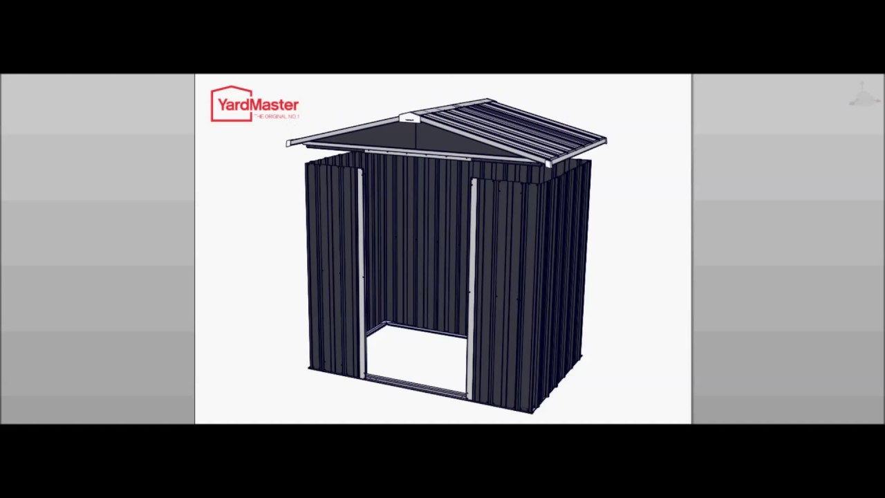 video assembly yardmaster castleton 6x7 aeyz metal shed