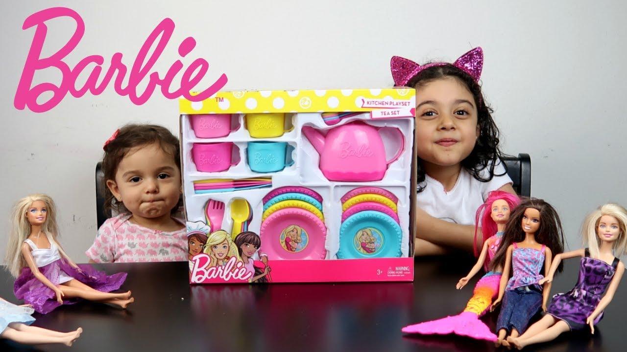 ألعاب بنات باربي حفلة الشاي مع مايا و لانا - Barbie Tea Time set
