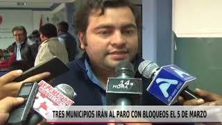 TRES MUNICIPIOS IRÁN AL PARO