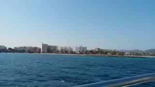 Sa Coma Beach Mallorca 2016 from the ship