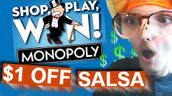 dumb monopoly prizes ($1 OFF SALSA!!!!)