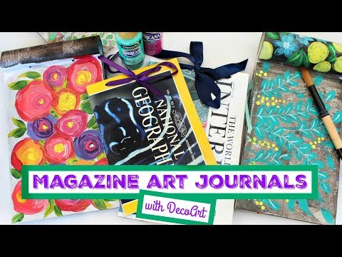 HOW TO: Upcycled Magazine Art Journals
