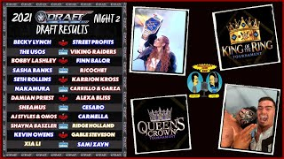 WWE Draft Night 2 w Supplemental RAW 10 4 21 Review KING OF THE RING QUEENS CROWN Tournament