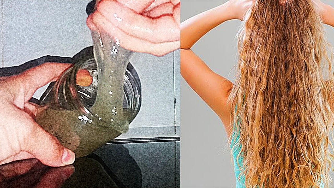 სელის თესლი,როგორ მოვუაროთ ხვეულ თმას,ფიქსაცია,გელის მომზადება/el pelo rizado