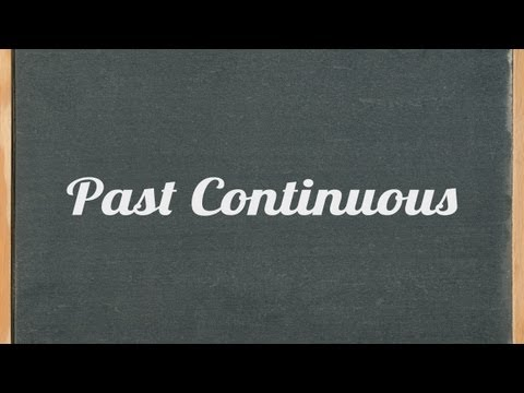 Past Continuous Tense ( Past Progressive) - English grammar tutorial video lesson