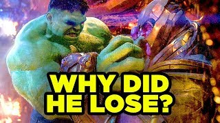 THANOS HULK FIGHT in Avengers Infinity War Breakdown!