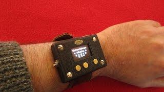 Enigma machine wrist watch