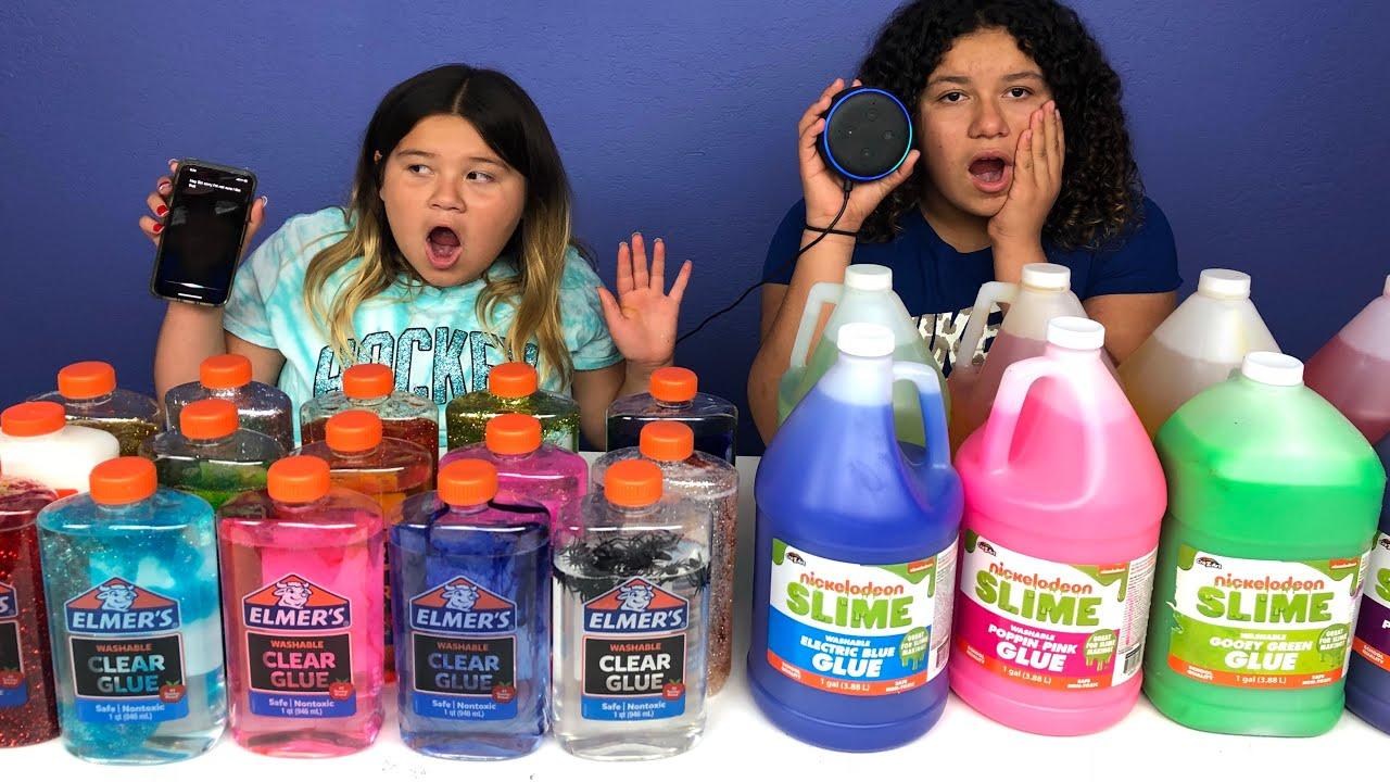 Slime Master Mary And Izzy: SIRI VS ALEXA PICKS MY SLIME INGREDIENTS
