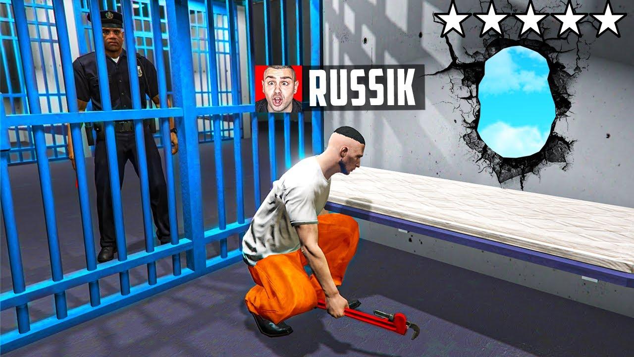 Download ich FLÜCHTE aus POLIZEI GEFÄNGNIS in GTA 5 RP!