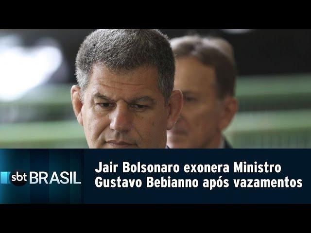 EXCLUSIVO: Jair Bolsonaro exonera Ministro Gustavo Bebianno após vazamentos | SBT Brasil (15/02/19)