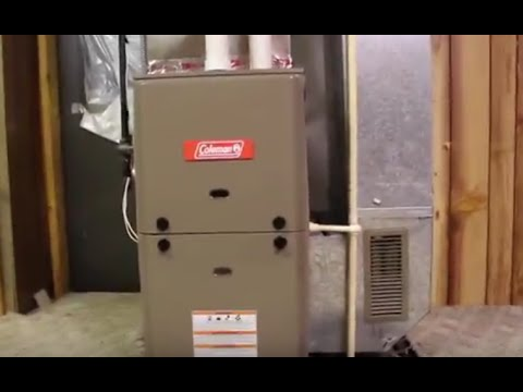Coleman Gas Furnace Tg9s Brand New Installed Running