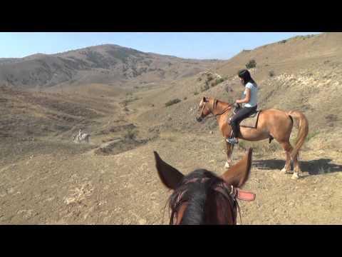 конная прогулка по мысу Меганом, Крым