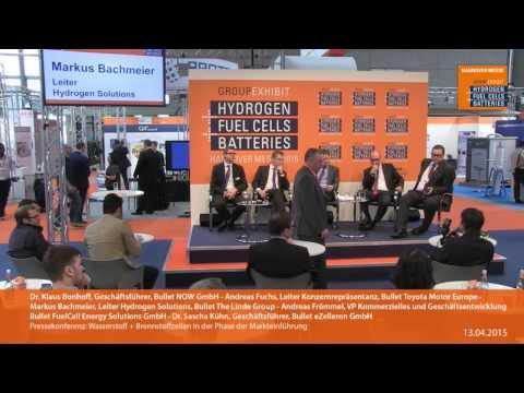 Pressekonferenz: Wasserstoff + Brennstoffzellen in der Phase der Markteinführung