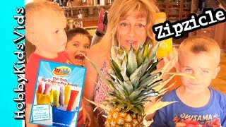 Diy Zipzicle Fresh Fruit Frozen Popsicles + Root Beer Float Popsicles Hobbykidsvids