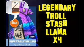 Fortnite: Cracking Open 4 Legendary Troll Stash Llamas in Save the World