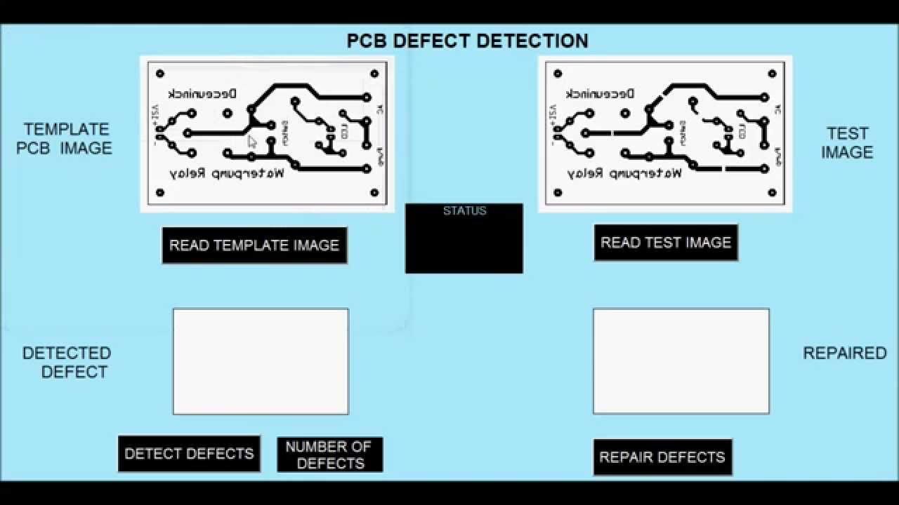 PCB Defect Detection- MATLAB (Image processing)