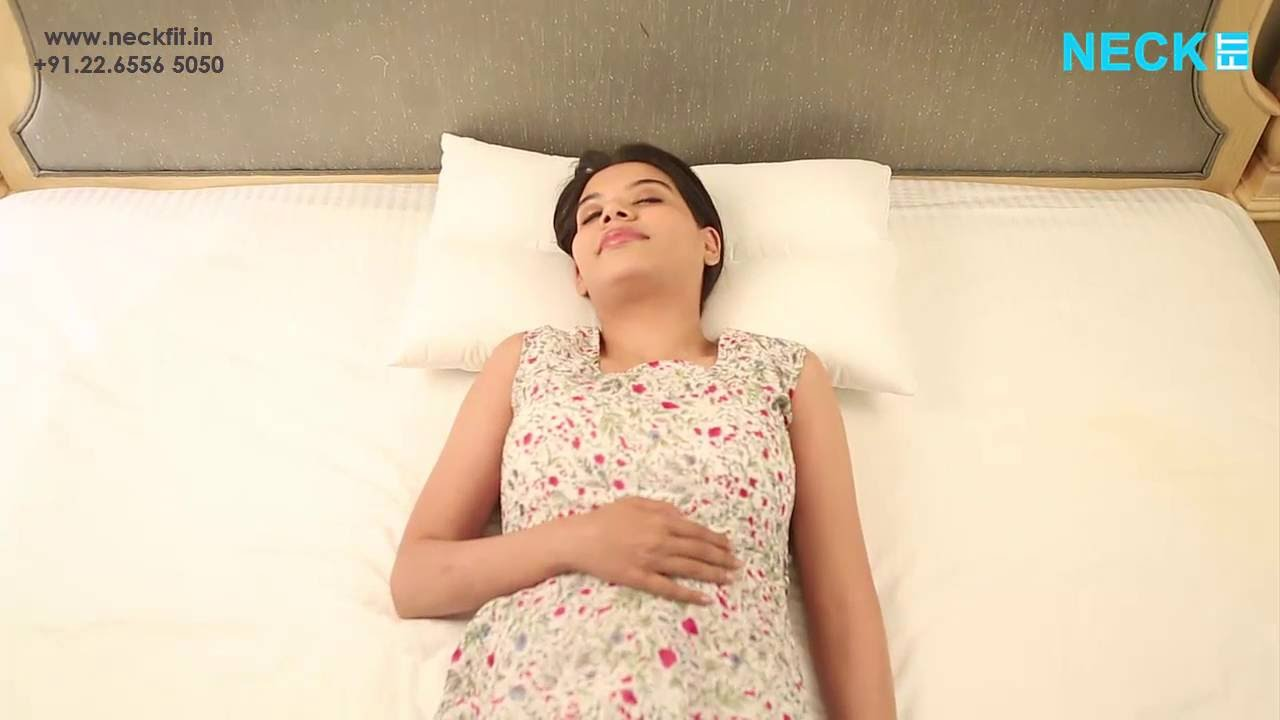 Best Pillow For Neck Pain And Back Pain In India Neckfit Youtube