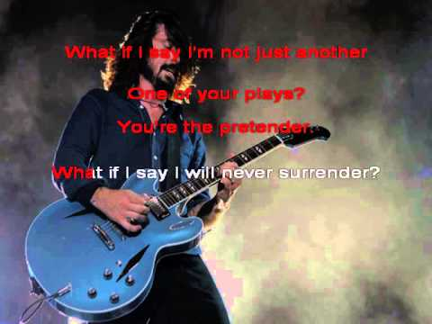 Foo Fighters - Pretender[Karaoke]