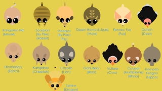 Mope.io All DESERT ANIMALS // SPHINX Boss // Ideas for Desert animals