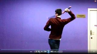 Нунчаку видео уроки- прокрутка за спиной(nunchaku slow motion)
