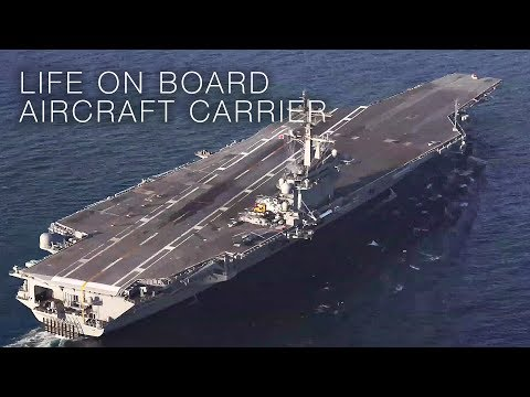 USS Abraham Lincoln Sea Trials – Life On Board Aircraft Carrier