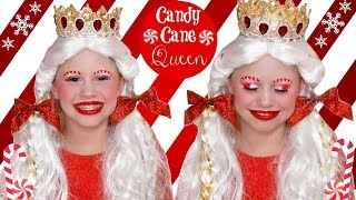 Candy Cane Queen Christmas Makeup and Costume