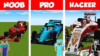Minecraft NOOB vs PRO vs HACKER: F1 CAR HOUSE BUILD CHALLENGE in Minecraft / Animation