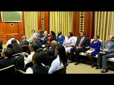 President Jacob Zuma hosts President Manuel Pinto Da Costa of Sao Tome and Principe